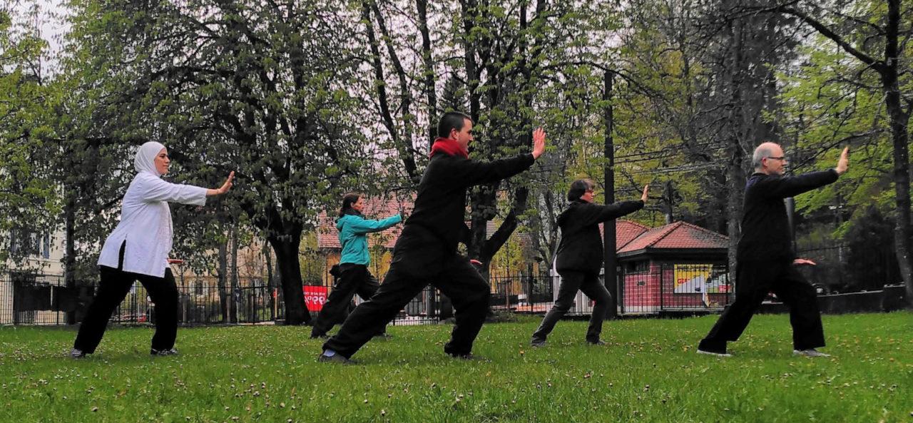 cours de taiji au parc de l'Ancienne