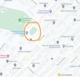 carte parc de l'ancienne